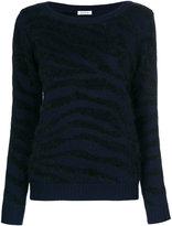 P.A.R.O.S.H. crewneck zebra knit top