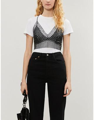 Free People Constellation lace metallic top