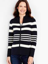 Talbots Milano Knit Jacket-Stripes