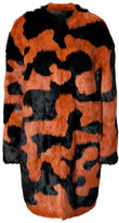 Diane von Furstenberg Rabbit Fur Coat