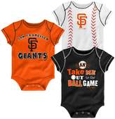 MLB San Francisco Giants Boys' 3pk Bodysuit Crawlers