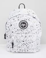Hype Backpack In White With Speckle