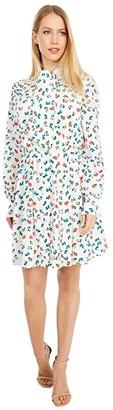 Jason Wu Printed Neck Tie Shirtdress (Bone Multi) Women's Clothing