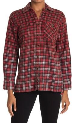 Angie Plaid Pocket Long Sleeve Shirt