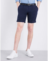 Slowear Chinolino Slim-fit Linen And Cotton-blend Chino Shorts