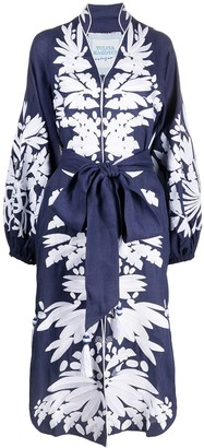 Yuliya Magdych Olives embroidered dress