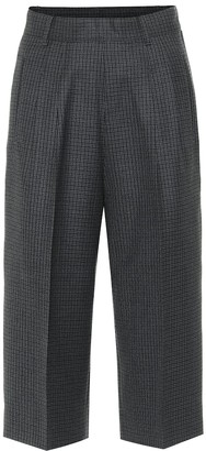 Maison Margiela Checked wool Bermuda shorts