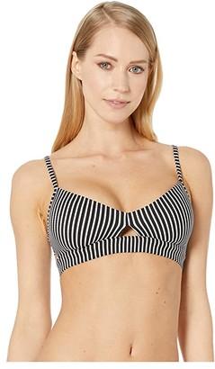 Seafolly Go Overboard Bralette Bikini Top (Black) Women's Swimwear