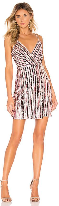 BCBGMAXAZRIA Multi Color Sequin Dress