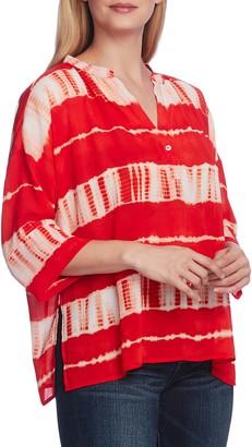 Vince Camuto Shibori Stripe Dolman Sleeve Blouse