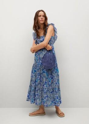 MANGO Paisley dress with ruffles