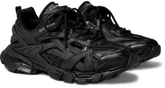 Balenciaga Track.2 Nylon, Mesh And Rubber Sneakers