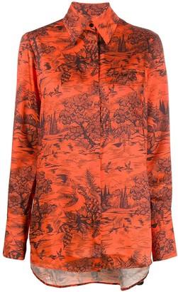 Victoria Victoria Beckham Forest Print Shirt