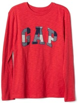 Gap Buffalo plaid logo tee