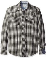 James Campbell Men's Giron Western Brushed Plaid