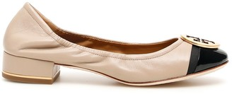 Tory Burch Classic Minnie Cap Toe Ballerinas