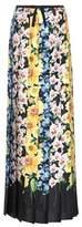 Gucci Floral-printed silk-satin skirt