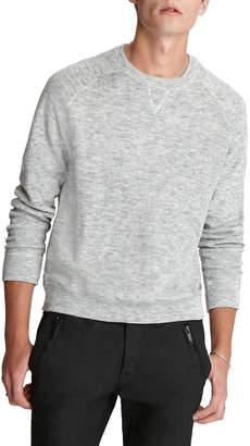 John Varvatos Men's Lexington Melange French Terry Raglan Sweater