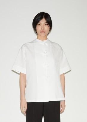 Jil Sander Malfile Cotton Linen Short Sleeve Shirt