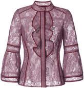 J. Mendel lace ruffle blouse
