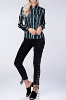 Honeybelle honey belle Stripe Collared Blouse