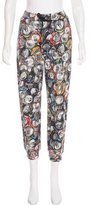 Moschino Graphic Print Mid-Rise Pants