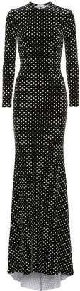 Balenciaga Polka-dot velvet maxi dress