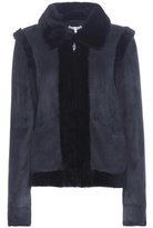 Ganni Scott Suede And Shearling Jacket