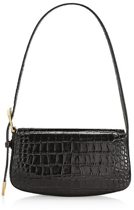 Balenciaga Ghost Croc-Embossed Leather Baguette