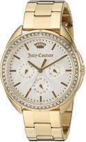 Juicy Couture Women's 'Capri' Quartz Tone and Gold Plated Automatic Watch(Model: 1901479)