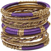 Amrita Singh Purple & Goldtone Rupal Bangle Set