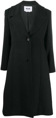 MSGM Flared Mid-Length Coat