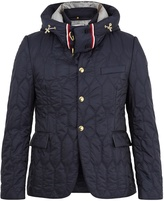 Moncler Gamme Bleu Single-breasted hooded quilted down blazer