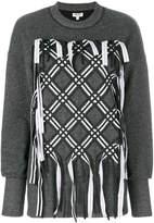 Kenzo ribbon lattice sweatshirt