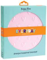 NEW Bubba Blue Everyday Essentials Sherpa Bassinet Blanket Love Heart Pink