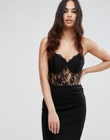 Club L Lace Cami Strap Bodysuit