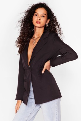 Nasty Gal Womens Give a Cinch Relaxed Blazer - Black - 6, Black