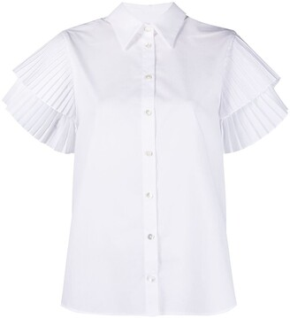 P.A.R.O.S.H. Pleated-Sleeve Shirt