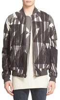Rick Owens Camo Print Bomber Jacket