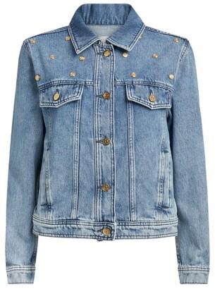 Claudie Pierlot Studded Denim Jacket