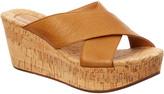 Chocolat Blu Wish Leather Wedge Sandal