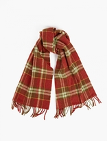 A.P.C. Red And Green Check Wool Scarf