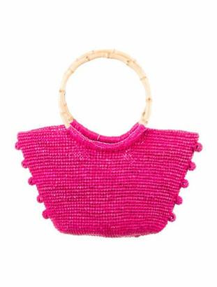 Sensi Straw Handle Bag Pink