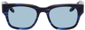 Western Hydrodynamic Research Black and Blue Barton Perreira Edition Matte Sunglasses