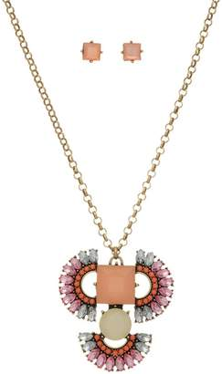 mimis Mimi's Gift Gallery Peach Boho Necklace/set