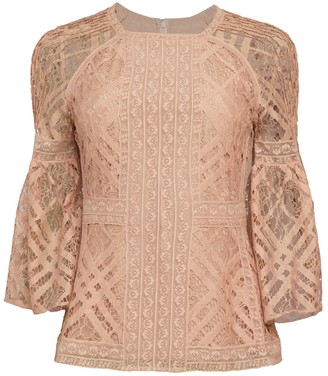 Burberry Bell-Sleeve Lace Top