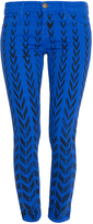 Current/Elliott Chevron print Skinny Ankle Jean