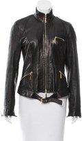 Roberto Cavalli Leather Casual Jacket