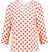 Saint Tropez Mega Dot Blouse - S / 1053 Ice Spots