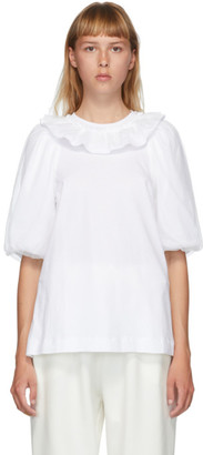 Simone Rocha White Puff Sleeve T-Shirt